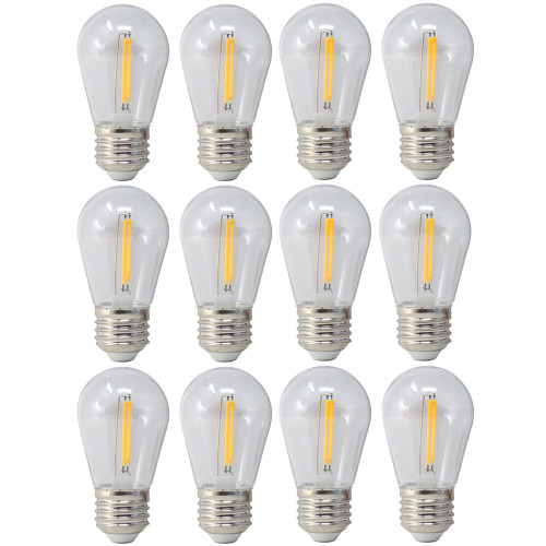 120V 1.5w Vintage Style LED Warm White S14 Light Bulb - 12 Pack - BS14-ZY-1.5-27K/12