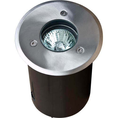 12V PVC In Ground Well Light Fixture w/ Stainless Steel Circular Cover - LV311