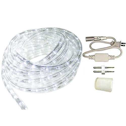 50ft Cool White LED Rope Light Standard Kit