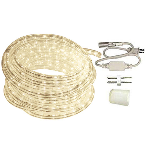 50ft Reel Warm White LED Rope Light Standard Kit