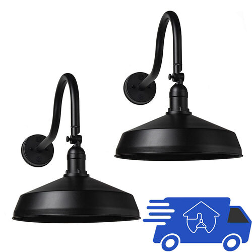 2 Pack, Textured Black Finish Quick Ship