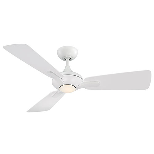 "120V 52"" 3 Blade Matte White Mykonos Smart Ceiling Fan"