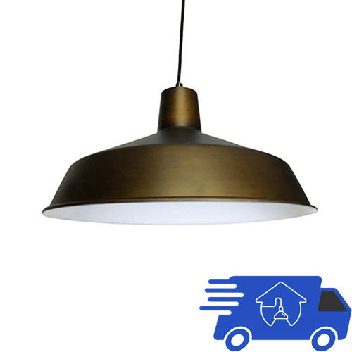 120V 12 Inch Commercial Grade Vintage Barn Hanging Metal Pendant Light SPECIAL CLOSEOUT - AQ-PENST-1464-CO