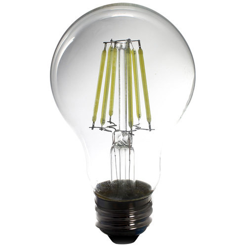 120V 5w Cool White Vintage LED A19 Light Bulb 450 Lumens - Twin Pack - AQ-120V-A19508055-2PK