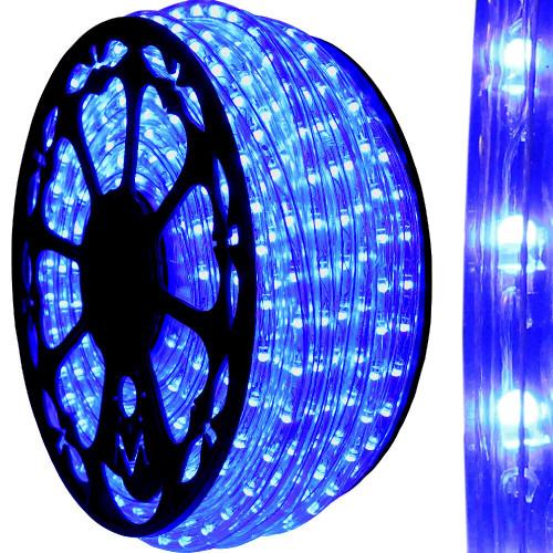 Outdoor Rated Blue LED Rope Light, Full Range Dimmable - AK-LED-SLF3-BL