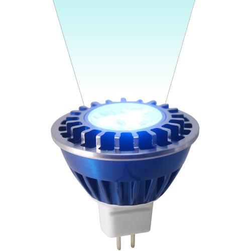 12V 3.6w Blue LED MR16 Wide Spot Light Bulb - LEDB1612V36W-BLUE-WS