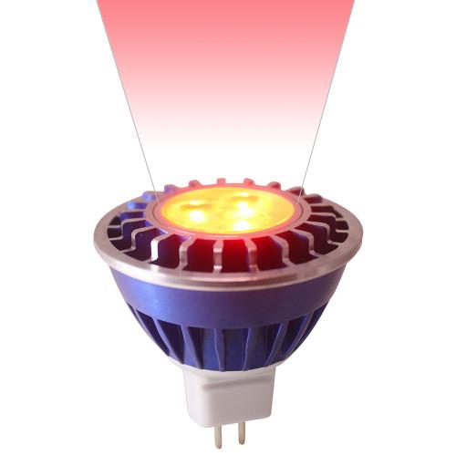 12V 3.6w Red LED MR16 Wide Spot Light Bulb - LEDB1612V36W-RED-WS