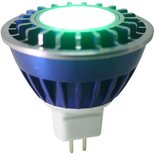 12V 3.6w Green LED MR16 Wide Spot Light Bulb - LEDB1612V36W-GREEN-WS