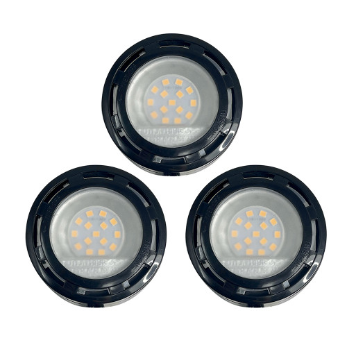 120V Dimmable LED Kitchen Puck Light 3 Light Kit