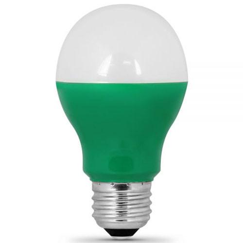 120v 3w Lush Green Led A19 Light Bulb Aqlighting