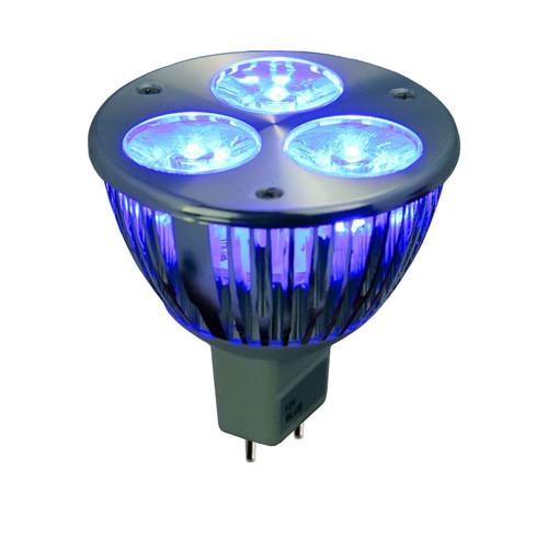 Low Voltage 6w Blue LED MR16 Wide Spot Bulb