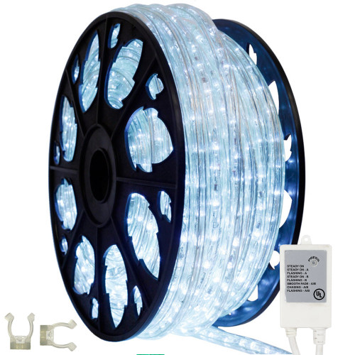 145ft cool white animated led rope light kit aqlighting. Black Bedroom Furniture Sets. Home Design Ideas