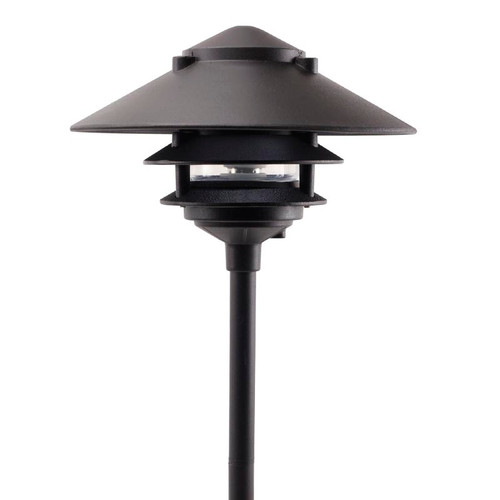 Metal Sign Gooseneck Light Granite Silver: Large Canopy Aluminum 3 Tier Pagoda Light Post