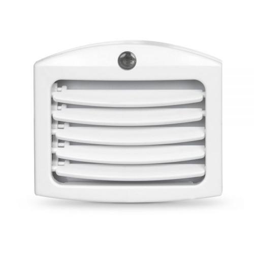 Plug In Light Sensing Led Night Light W Louver Aqlighting