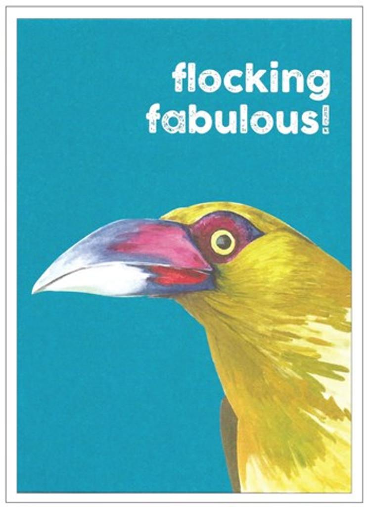 Flocking Fabulous Quirky Birds Birthday Card - Cinnamon Aitch