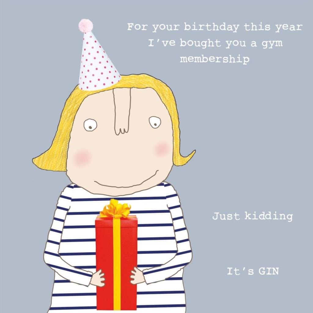 Gin Membership Birthday Card - Rosie Made a Thing