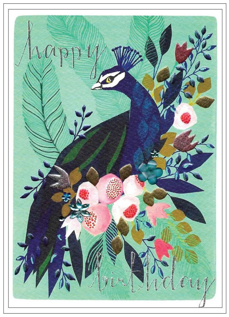 Peacock  Birthday Card - Cinnamon Aitch
