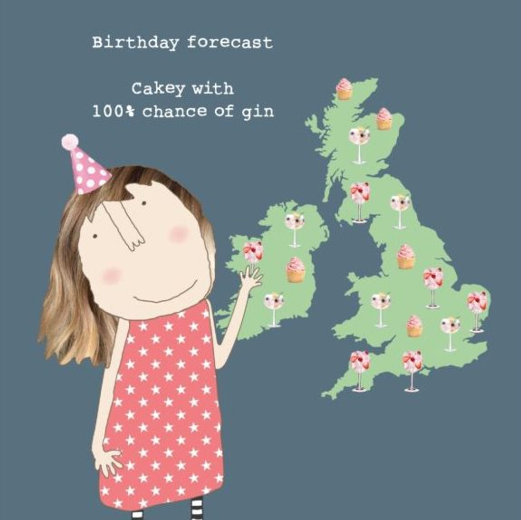 Birthday Forecast Funny Greeting Card - Rosie Made a Thing
