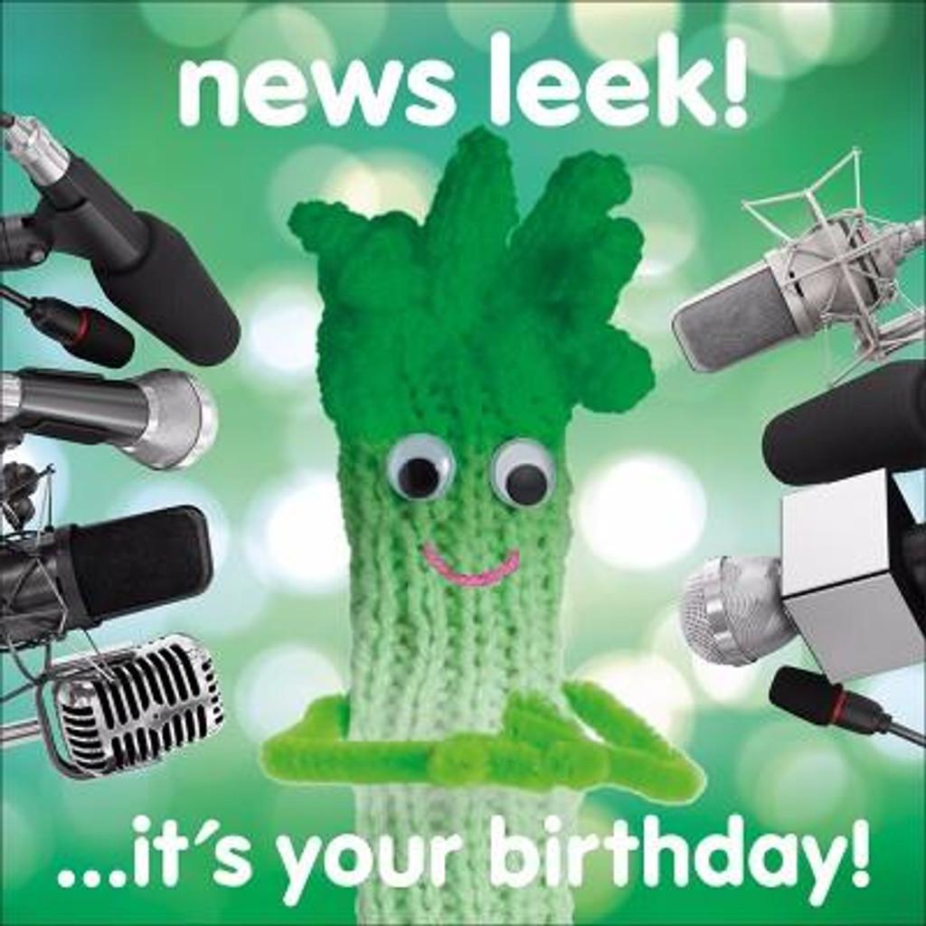 News Leek Birthday Greeting Card - Mint Publishing