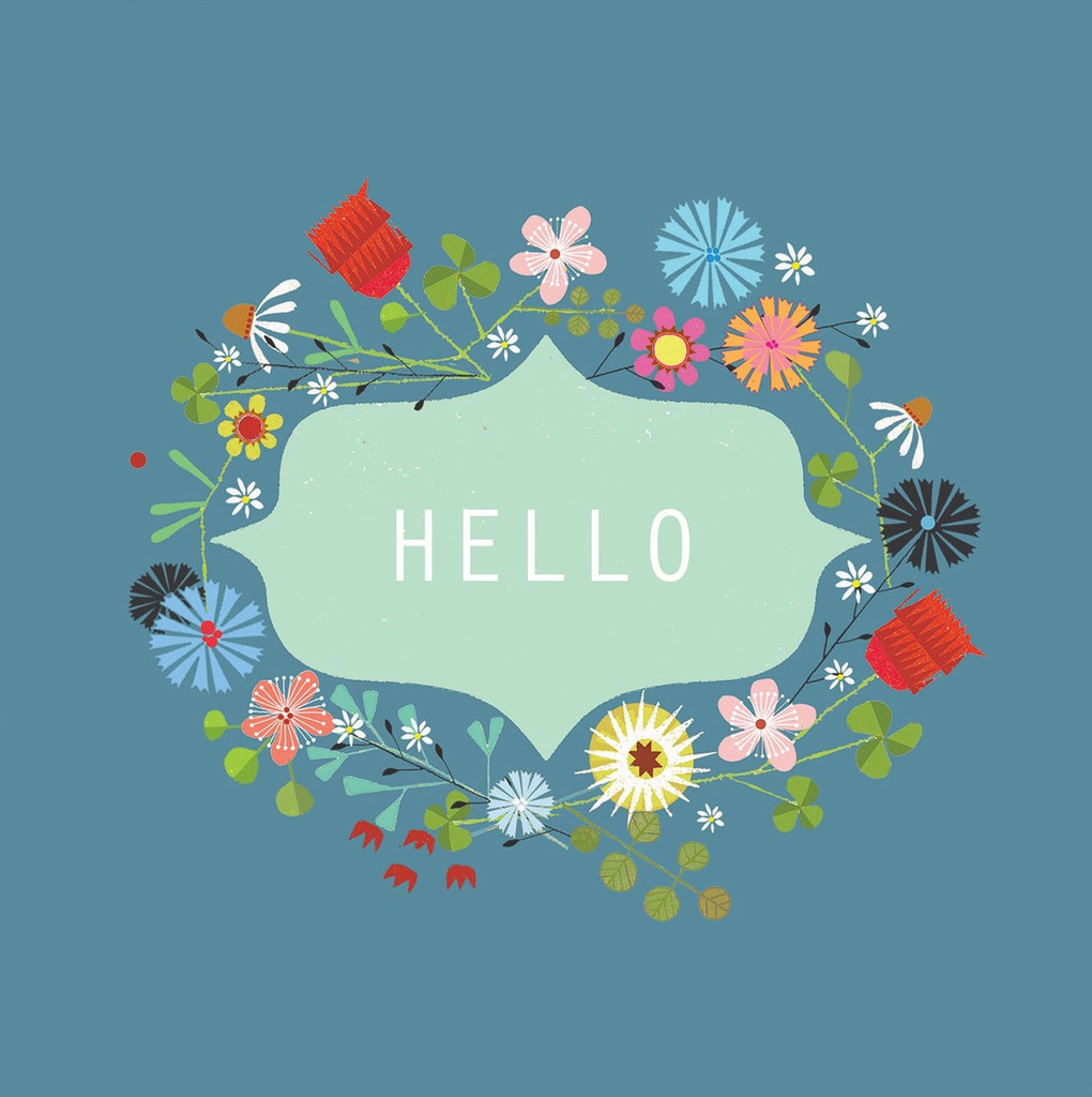 Hello Greeting Card - Kali Stileman