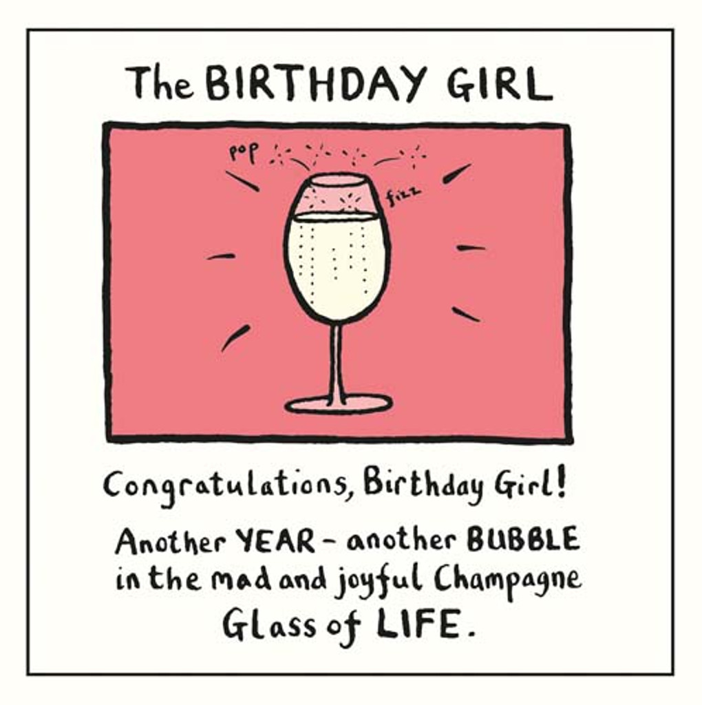 Edward Monkton The Birthday Girl Greeting Card - Pigment Productions
