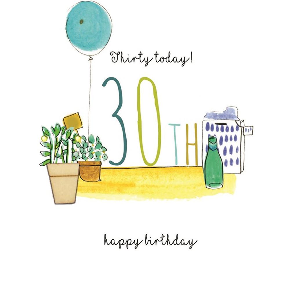 Hand Finished 30th Birthday Card | Laura Sherratt