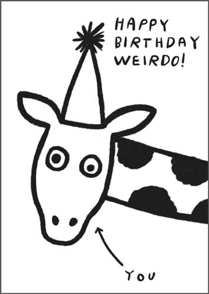 Birthday Weirdo | Greeting Card | Pigment Productions