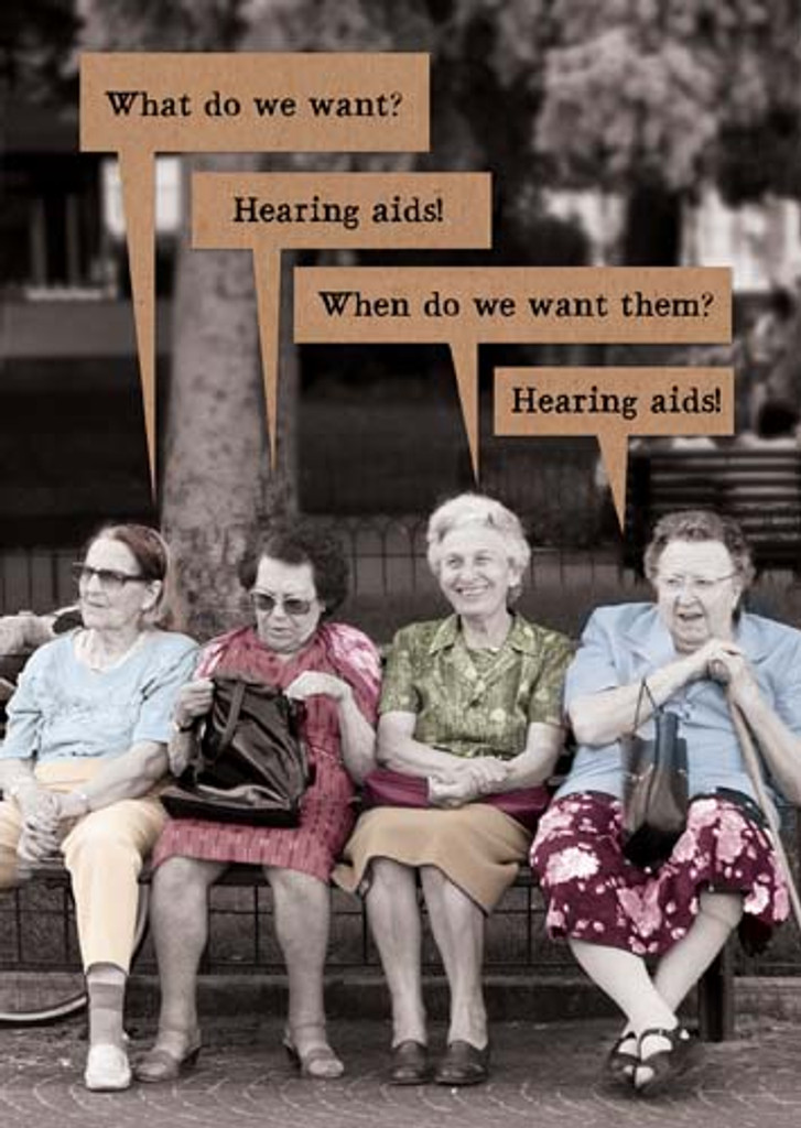 Hearing Aid Birthday Card Riff Raff - Pigment Productions