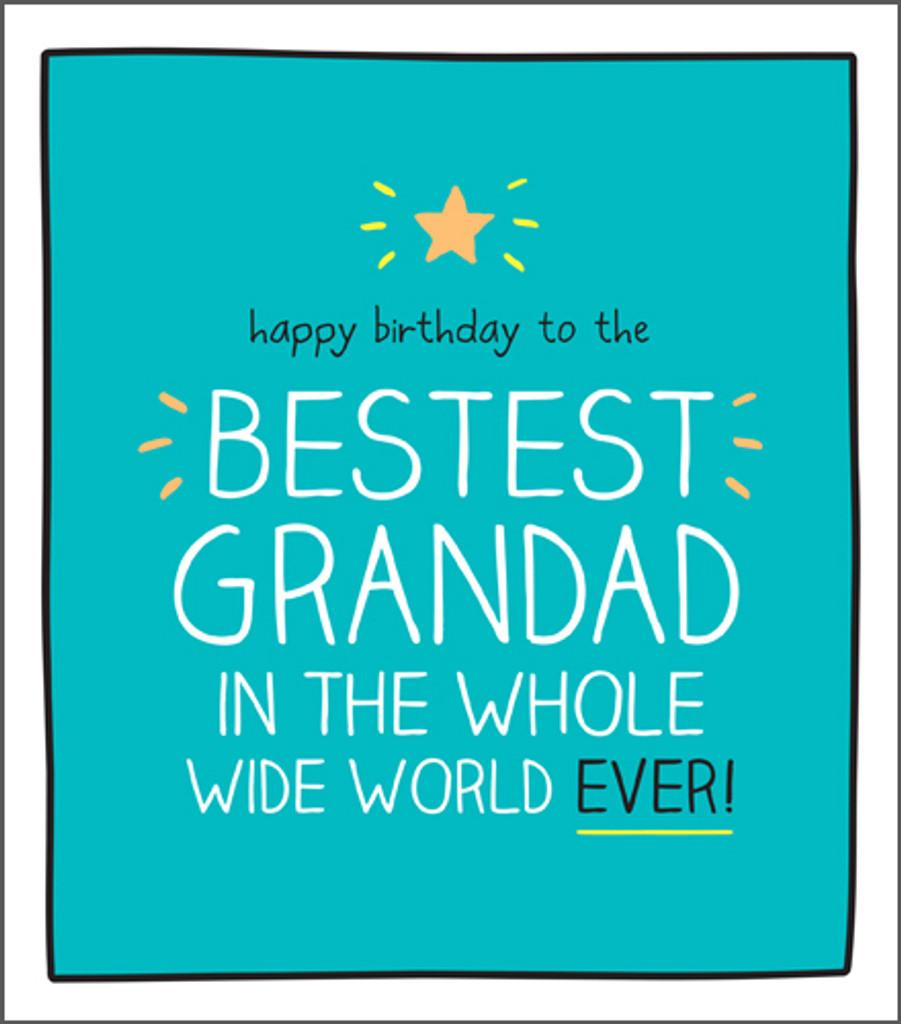 Cool Wonderful Grandad Birthday Card Happy Jackson - Pigment Productions