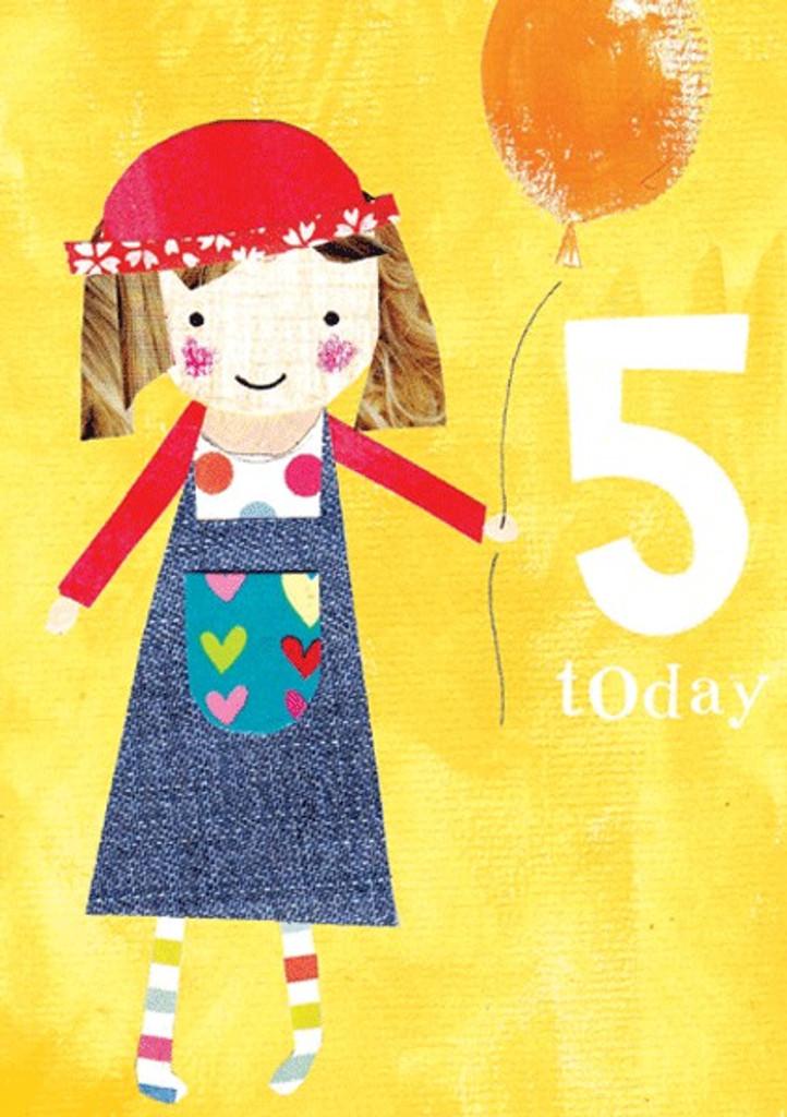 Balloon Age 5 Greeting Card | Paper Salad