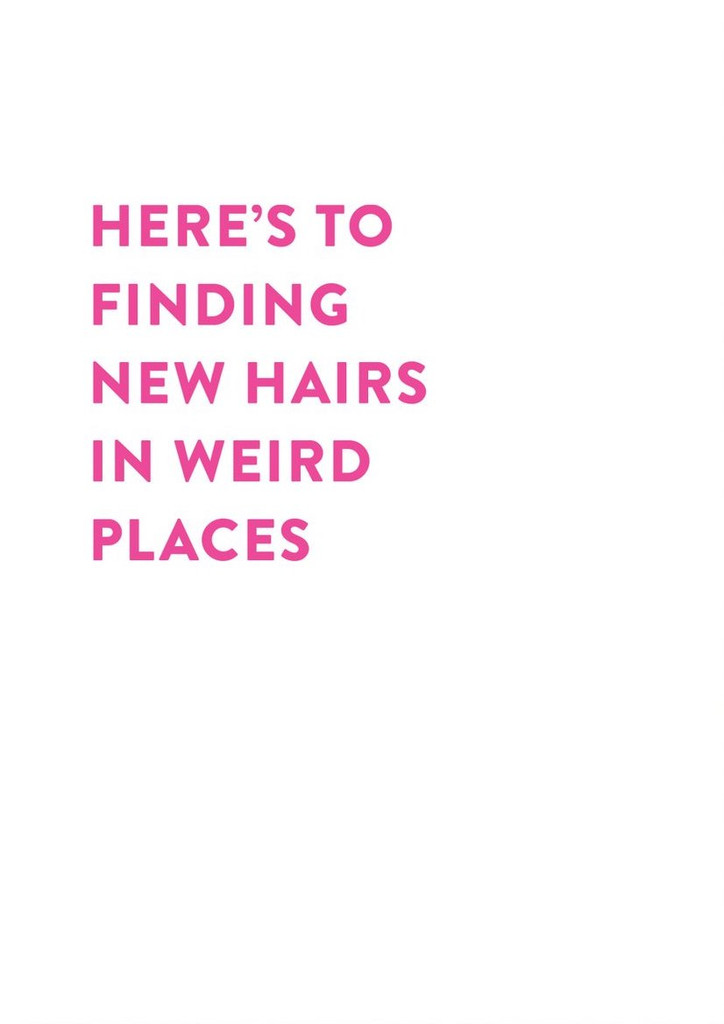Hairs in weird Places Funny Greeting Card - Stormy Knight
