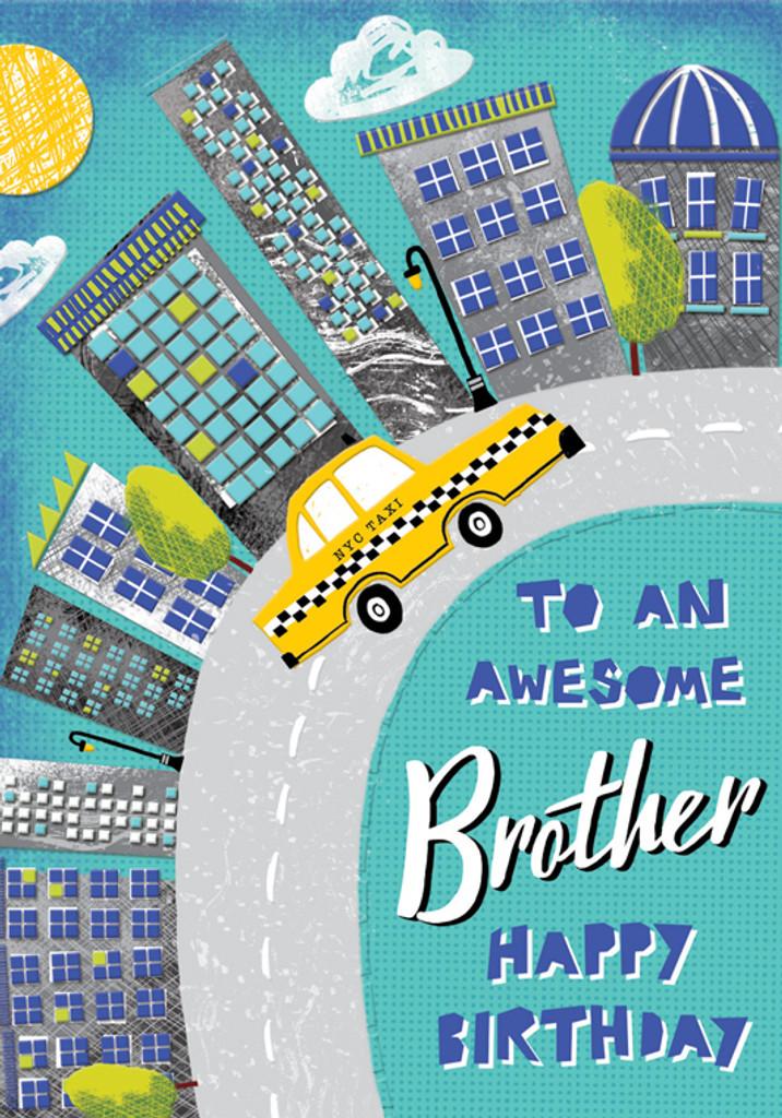 Awesome Brother Birthday Card - Rachel Ellen