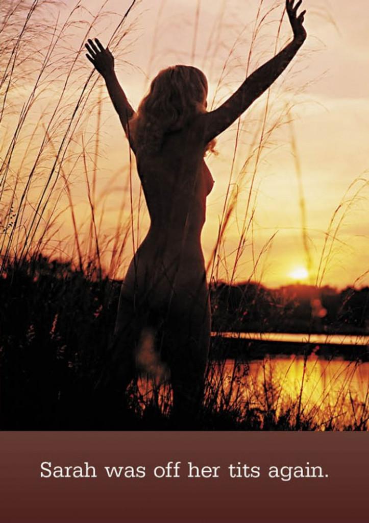 Sarah at Sunset   Blush   Funny Greeting Card