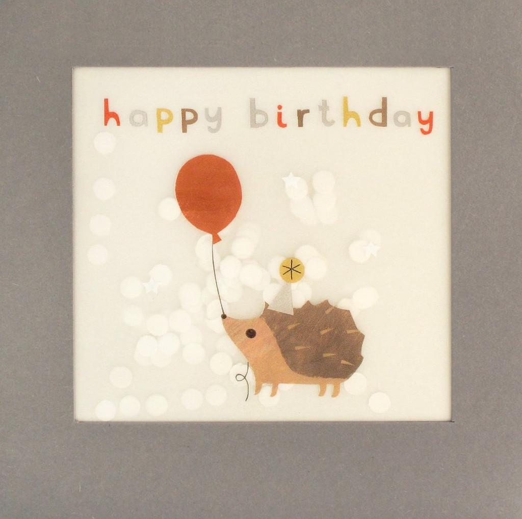 Super Cute Hedgehog Shakies Greeting Card - James Ellis