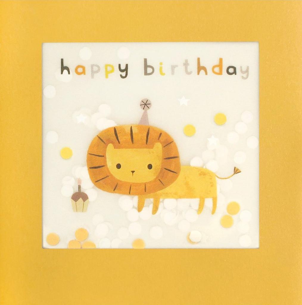 Super Cute Lion  Shakies Greeting Card - James Ellis