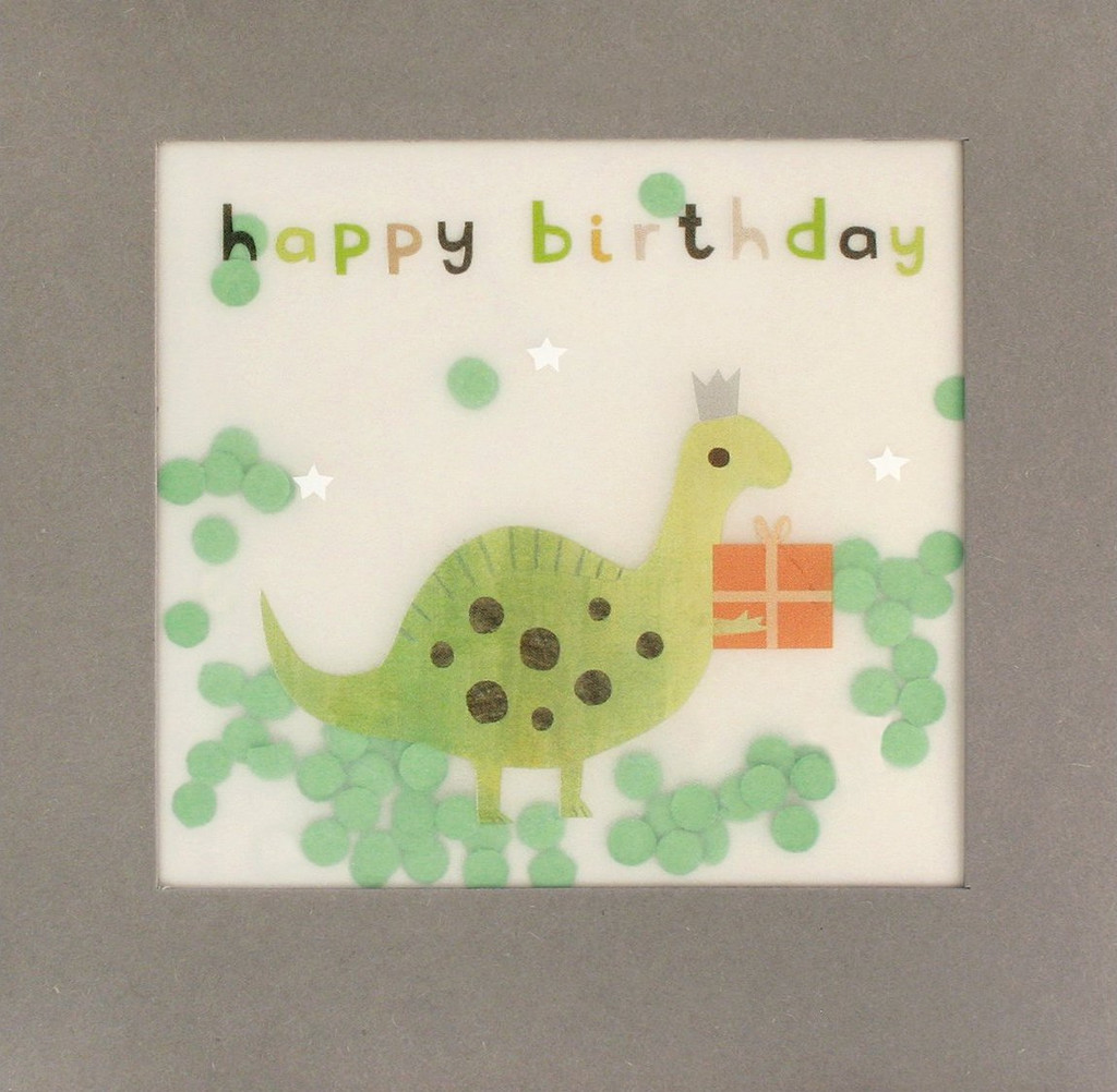 Super Cute Dinosaur  Shakies Greeting Card - James Ellis
