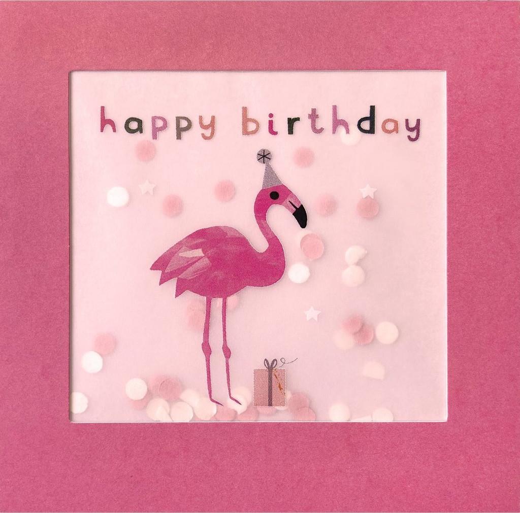 Super Cute Flamingo  Shakies Greeting Card - James Ellis