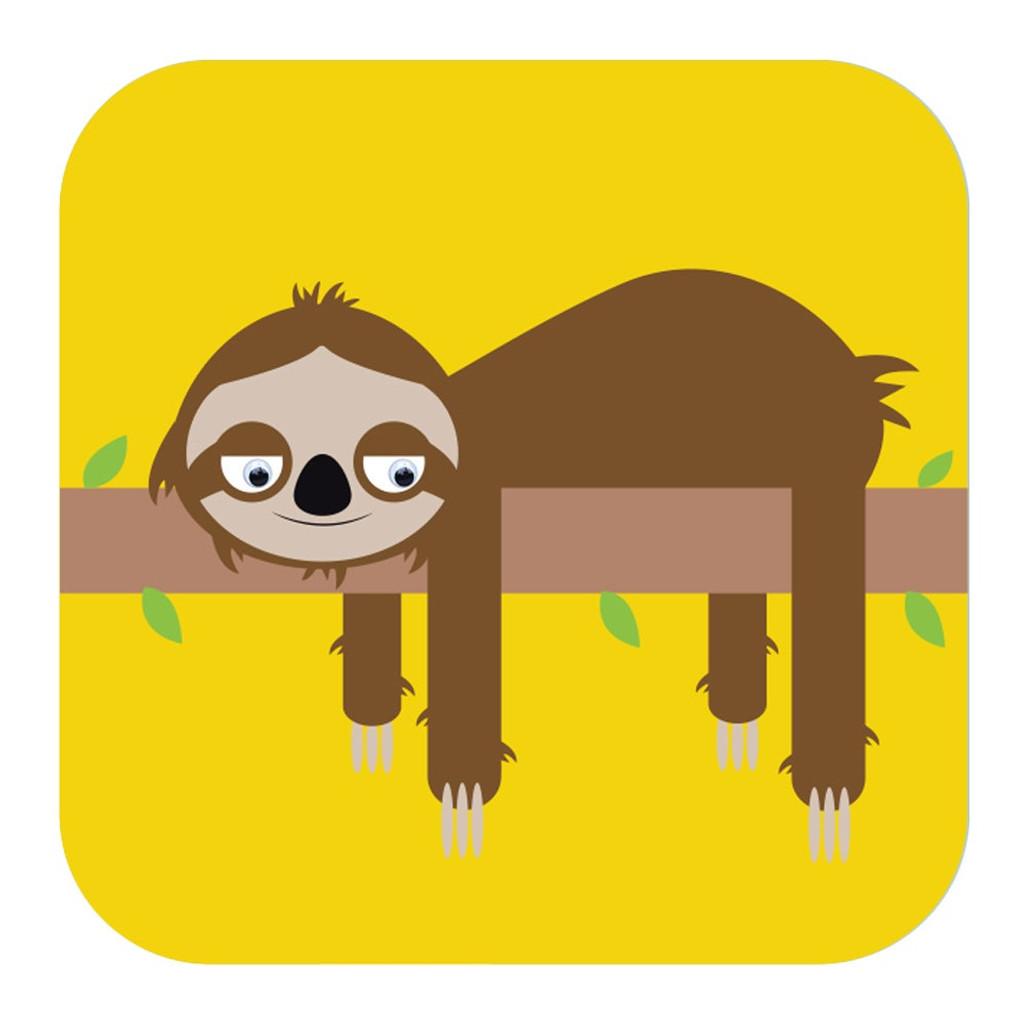 Sloth Childrens Birthday  Card Wobbly Eyes - Stripey Cats