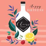 Cheers Enjoy Birthday Card - Laura Darrington