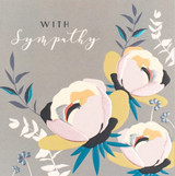 With Sympathy Flowers Card - Laura Darrington