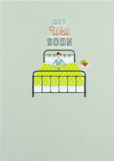 Get Well Bed  Card - Laura Darrington