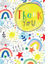 Thank You Rainbows Greeting Card - Laura Darrington