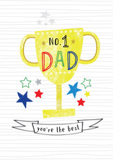 No1. Dad Fathers Day Greeting Card - Laura Darrington