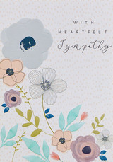 Heart felt Sympathy Card - Laura Darrington