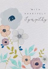 Heart felt Sympathy Card - Laura Darrington