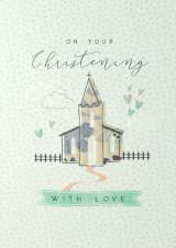Christening With Love  Card - Laura Darrington