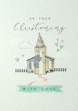 Christening With Love  Card - Laura Darrington