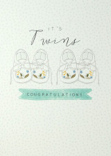It's Twins New Baby Card - Laura Darrington