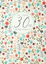 On Your 30th Birthday Card - Laura Darrington