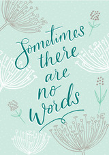 No Words Sympathy Card - Laura Darrington